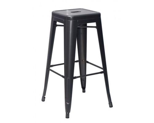 Барный стул Long (черный матовый)