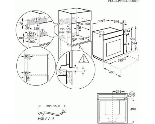 Встраиваемый духовой шкаф Electrolux OKE 5H71 X