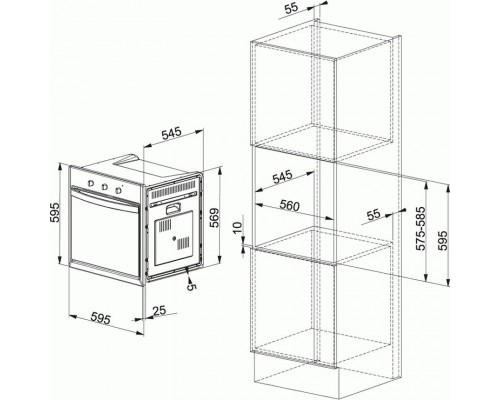 Встраиваемый электрический духовой шкаф Franke CF 65 M CO/F