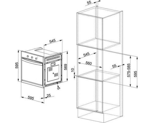 Встраиваемый электрический духовой шкаф Franke SM 62 M XS/F