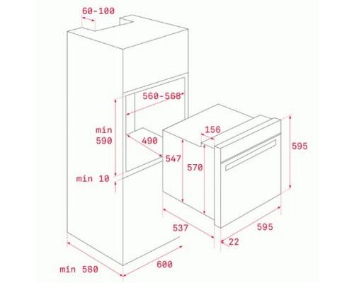 Встраиваемый Духовой Шкаф Teka HCB 6525 ST.STEEL