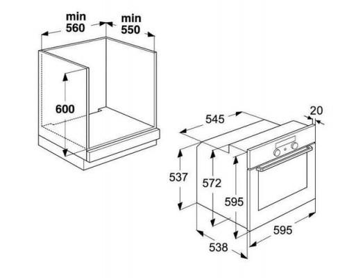 Встраиваемая электрическая духовка Whirlpool AKP 449 IX