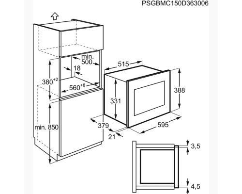 Встраиваемая микроволновая печь Electrolux EMT 25203 OC