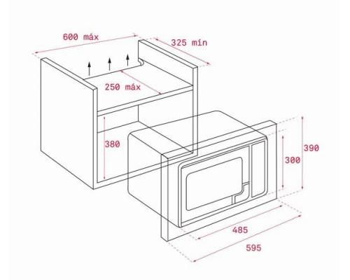 Встраиваемая микроволновая СВЧ печь Teka ML 820 BIS WH White SS