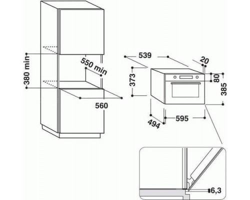 Встраиваемая микроволновая печь Whirlpool AMW 730 WH