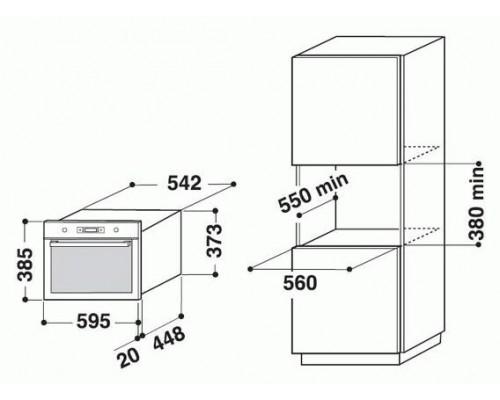 Встраиваемая микроволновая печь Whirlpool AMW 735 WH