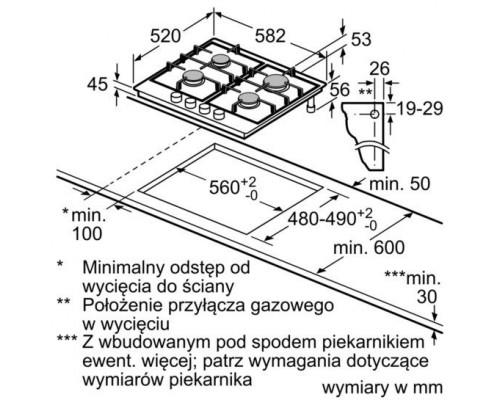 Встраиваемая варочная поверхность Bosch PGP 6B2 B60R