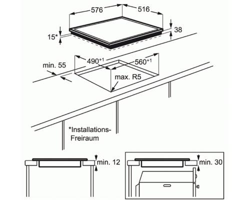 Встраиваемая электрическая варочная поверхность Electrolux EHF 96547 XK