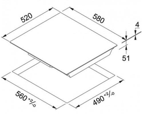 Встраиваемая индукционная варочная панель Franke FHSM 604 4I WH