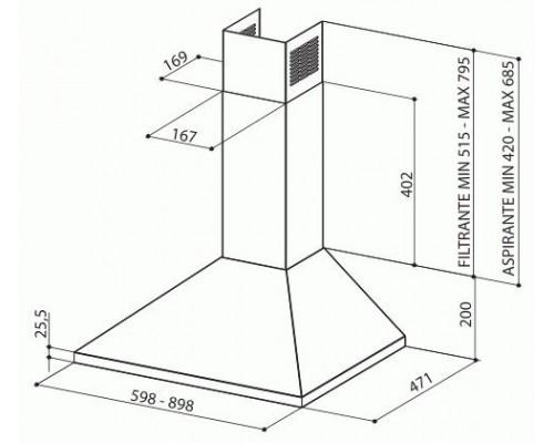 Вытяжка каминная Faber VALUE PB 4 2L X A60