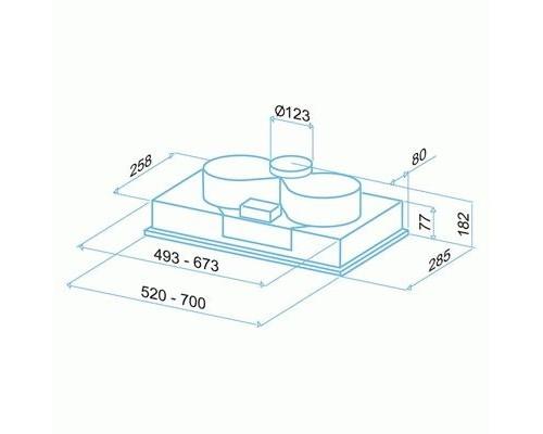Встраиваемая вытяжка BEST BHG 51320 GA (BIBIONE MET 52 / P540 MET 52)