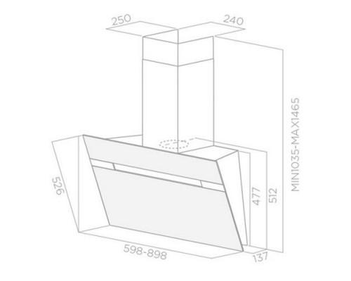 Вытяжка Экранная Elica Stripe WH/A/60/LX