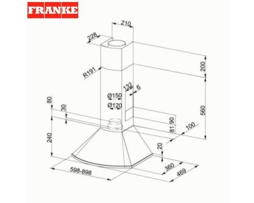 Вытяжка каминная Franke FDS 654 XS