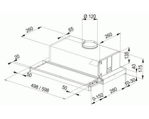 Встраиваемая Вытяжка Franke FTC 632L GR/XS