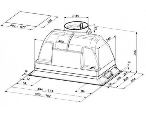 Встраиваемая Вытяжка Faber Inca Plus HIP X A52