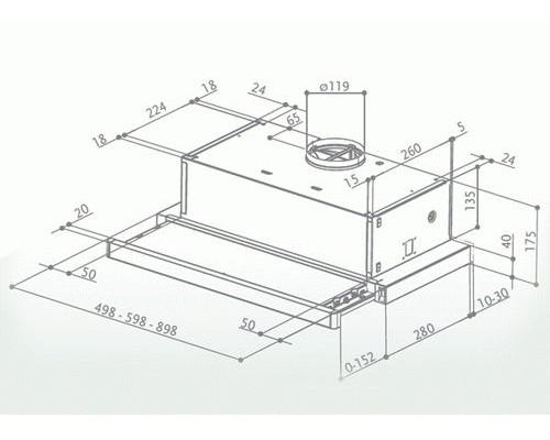 Встраиваемая вытяжка Faber FLOX IX A50