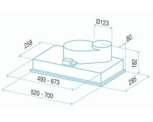Встраиваемая Вытяжка BEST BHG 51220 GA (P520 MET 52)