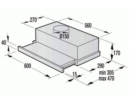 Встраиваемая Вытяжка Gorenje BHP 62 CLI