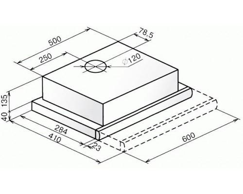 Встраиваемая вытяжка Faber Flox Glass WH A60