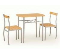 Кухонный стол LANCE + 2 стула ольха/серый