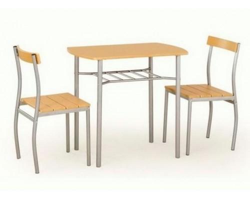 LANCE стол+ 2 стула ольха/серый