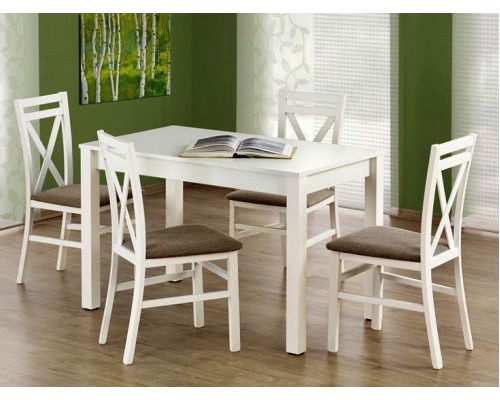 Кухонный стол MAURYCY раскладной 120/160 белый