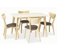 COMBO стол дуб беленый/белый
