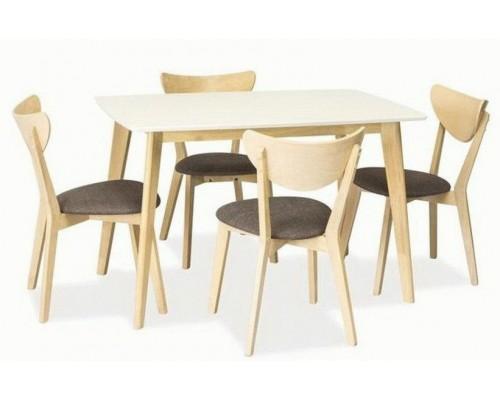 Кухонный стол COMBO дуб беленый/белый