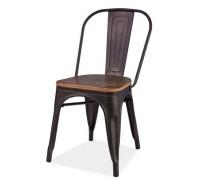 LOFT стул темный орех/графит