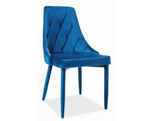 TRIX VELVET стул синий