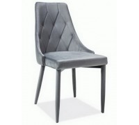TRIX VELVET стул серый