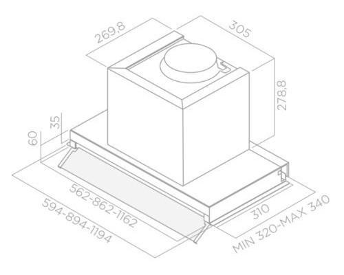Встраиваемая вытяжка Elica Box In Plus IXGL/A/120