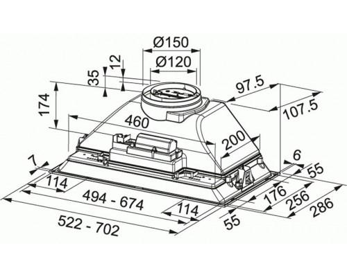 Встраиваемая вытяжка Franke FBI 525 XS