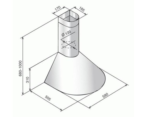 Вытяжка Elikor Эпсилон 60П-430 черный/серебро купольная